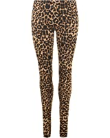 Ladies Womens Animal Leopard All Over Print Stretchy Leggings UK 8 - 26