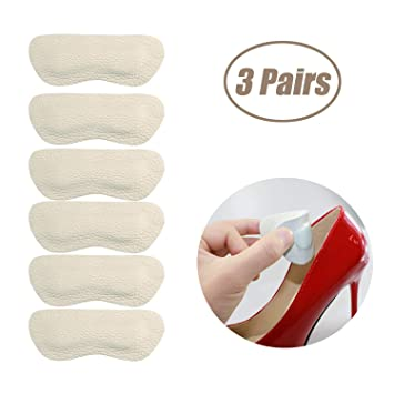 c9b353c4ee81c Heel Grips Pads Liner for Loose Shoes,Leather High Heel Pads for Shoes Too  Big,High Heel Inserts for...