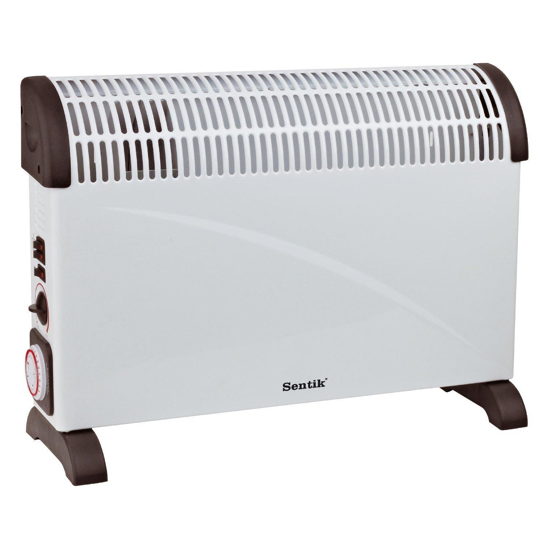 Sentik ® 2000W configuraciones de temperatura portátiles eléctrico Convector calentador con termostato , Turbo , 24 Temporizador y 3: Amazon.es: Hogar