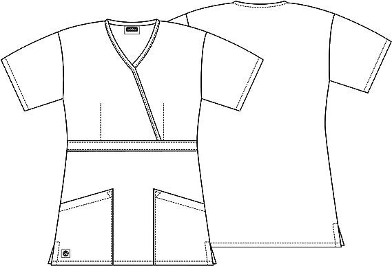 Sivvan Damen Medical Scrubs Shirt