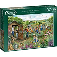 Jumbo 11265 Falcon de Luxe-Down at The Allotment 1000 Piece Jigsaw Puzzle, Multi