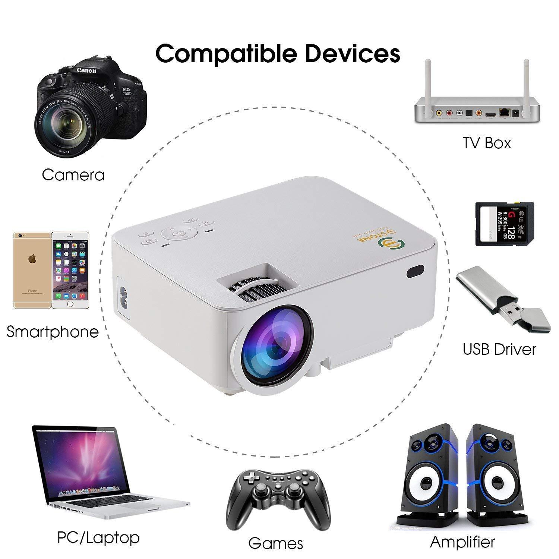 3Stone 2019 - Mini proyector LCD de 1080p, 1500 lúmenes, proyector ...
