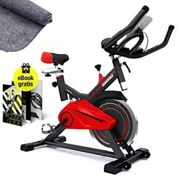 Sportstech SX100 Bicicleta Indoor; Volante de inercia 13kg ...