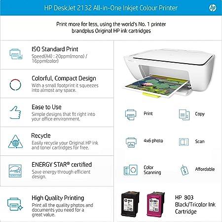 Wondrous Hp Deskjet 2132 All In One Inkjet Colour Printer Home Interior And Landscaping Ferensignezvosmurscom