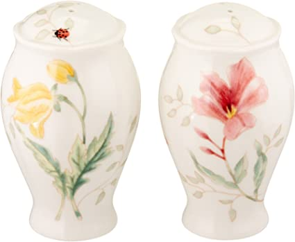 Lenox Butterfly Meadow Salt And Pepper Shaker Set Combined Pepper And Salt Shakers Kitchen Dining