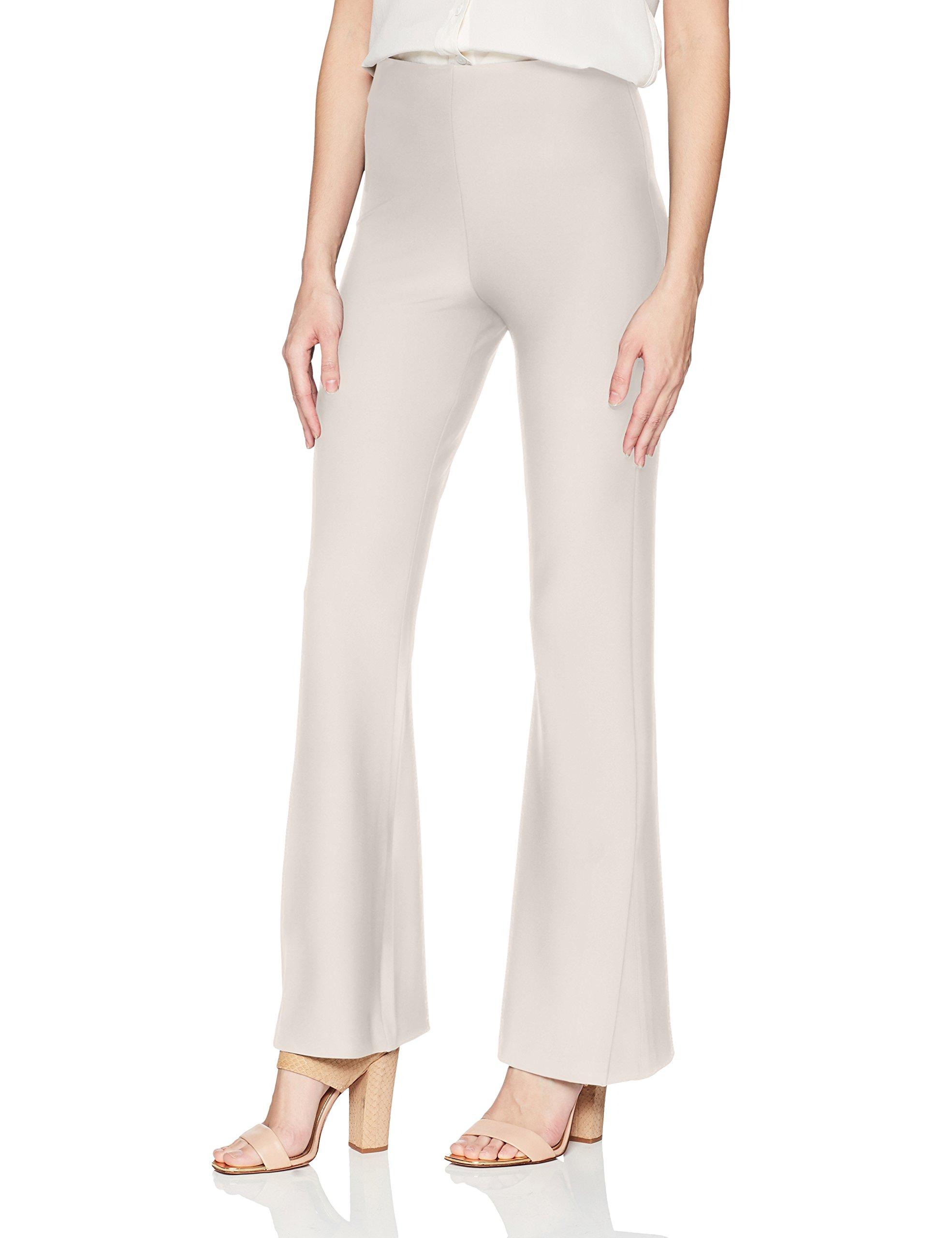 Lyssé Women's Flare Slit Stretch Crepe Pant, Bone, M