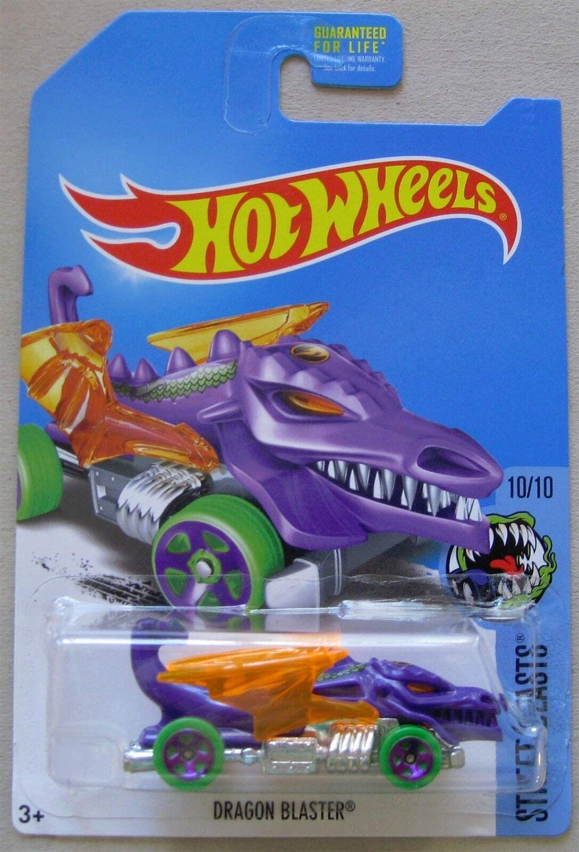 Hot Wheels 2017 Street Beasts Dragon Blaster, Purple (Treasure Hunt)