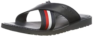 ddcffcecfdfb1 Amazon.com | Tommy Hilfiger Criss Cross Mens Sandals Navy | Shoes