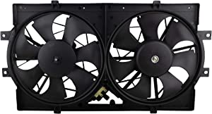 BOXI Dual Radiator A/C Condenser Cooling Fan Assembly For 1993-1997 Chrysler Concorde Dodge Intrepid Eagle Vision / 1994-1997 Chrysler LHS / 1994-1996 Chrysler New Yorker / 4596212 620-004 620160