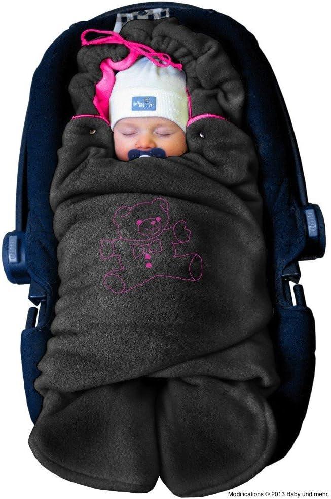 ByBoom® - Manta arrullo de invierno para bebé, es ideal para sillas de coche (p.ej. de las marcas Maxi-Cosi y Römer), para cochecitos de bebé, sillas de paseo o cunas; LA MANTA ARRULLO ORIGINAL CON EL