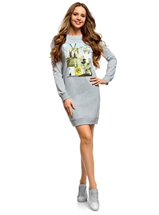 oodji Ultra Femme Robe de Sport avec Imprimé  Amazon.fr  Vêtements ... e28e67b47aa