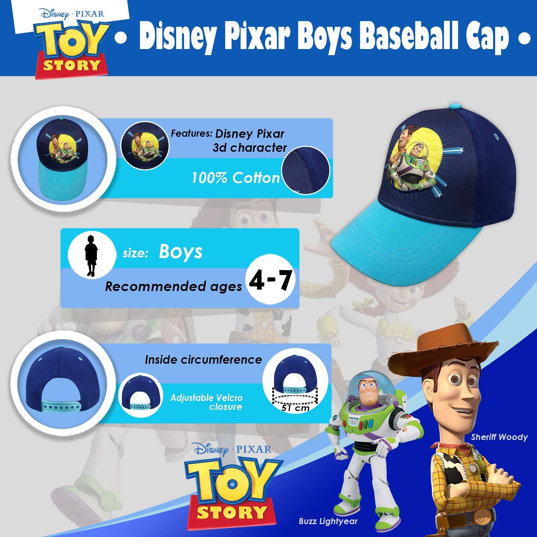 Amazon.com  Disney Pixar Toy Story 4 Boys 3D Baseball Cap with Tom Hanks  and Tim Allen Age 4-7 Blue  Clothing 5e5466d4377f