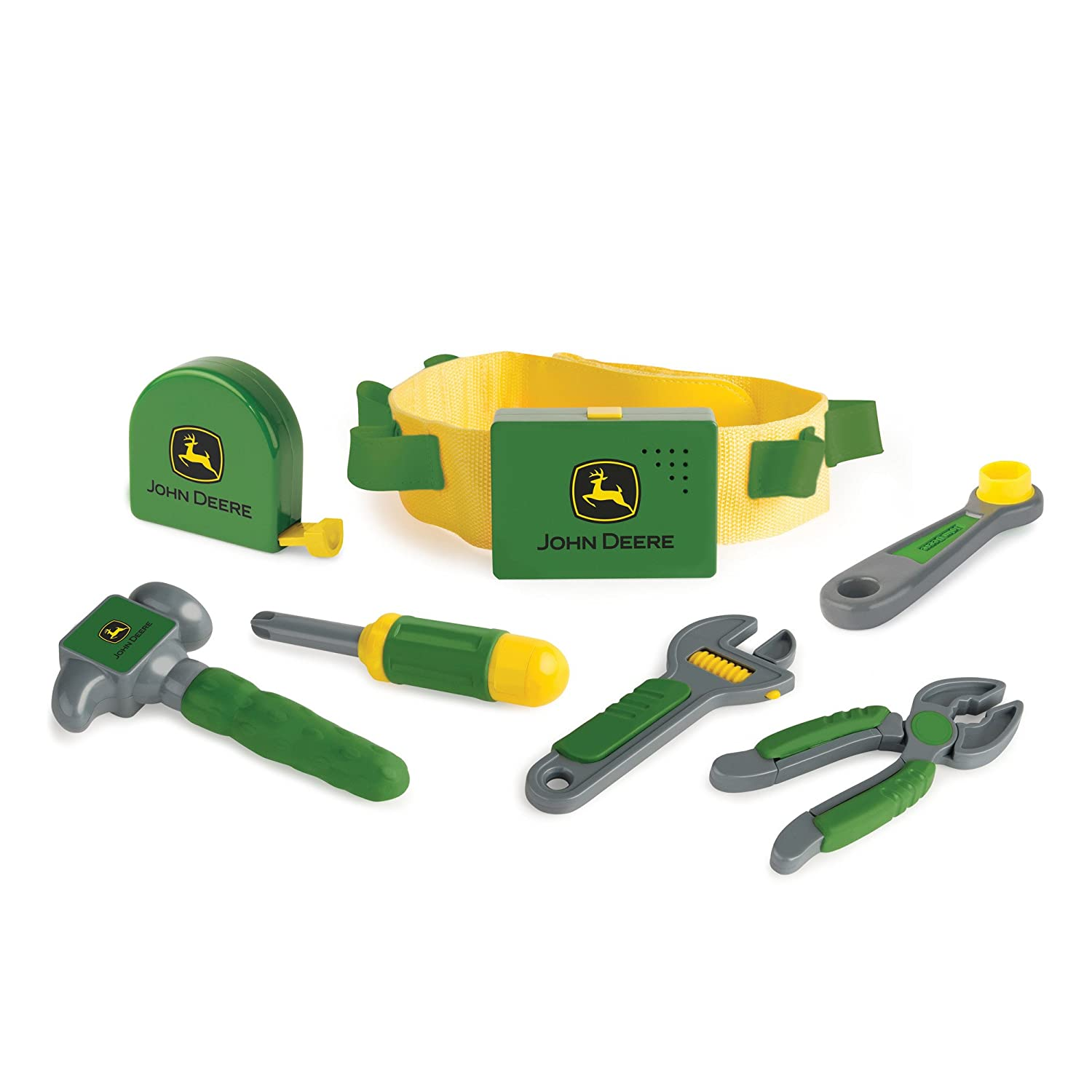 TOMY John Deere Deluxe Talking Toolbelt Preschool Toy, Green Tomy International (RC2) 35070VAZ
