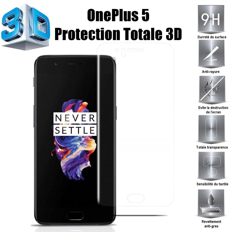 One Plus 5 Protector de Pantalla, Scott-ES [Curvado 3D] Vidrio ...