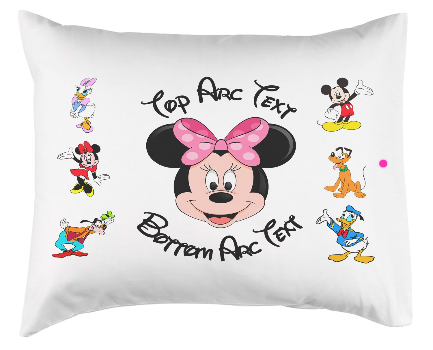 Personalized Toddler Minnie Mouse Pillow Or Pillowcase (Pillowcase)