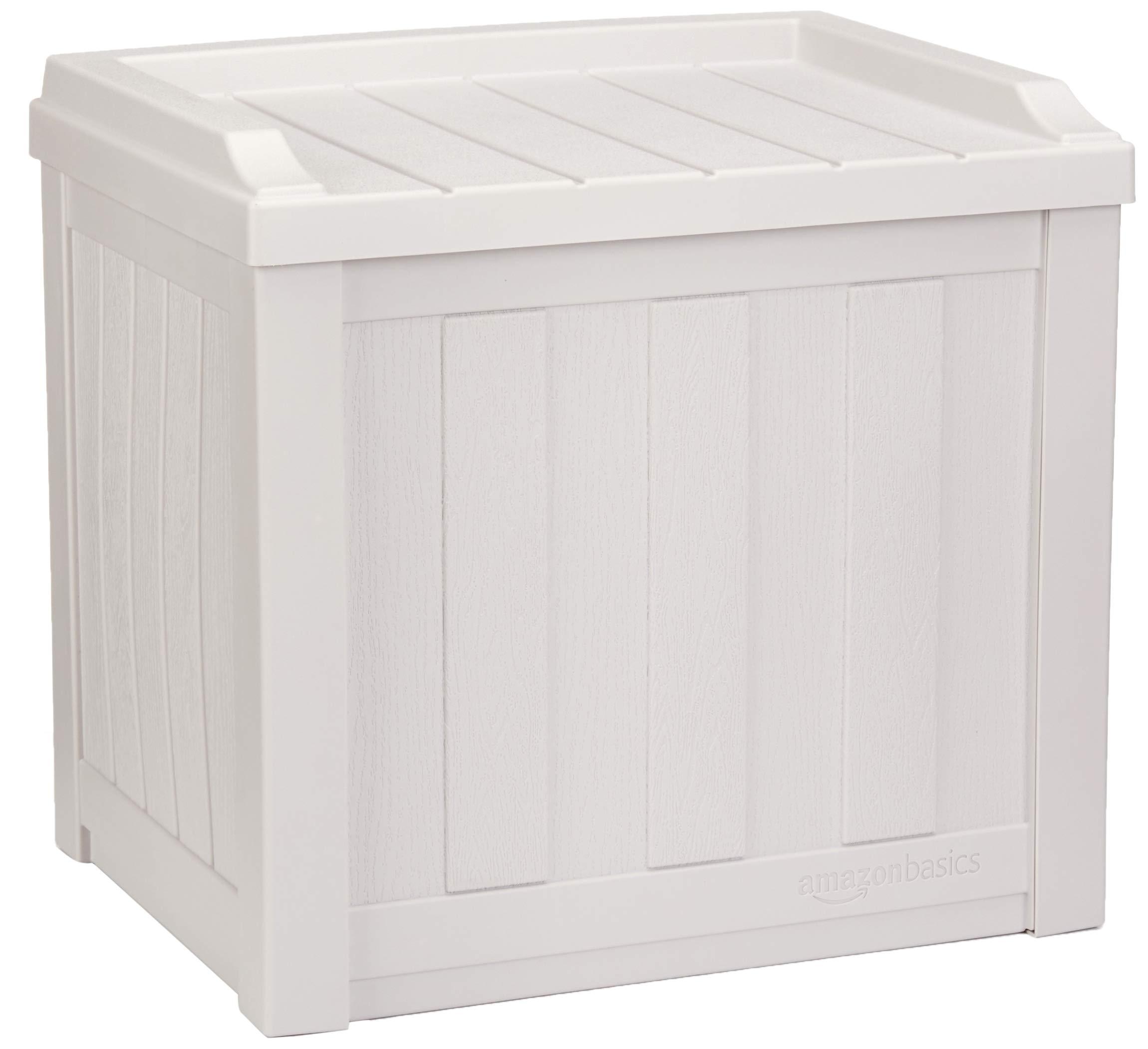 AmazonBasics 22-Gallon Resin Deck Storage Box, Grey by AmazonBasics