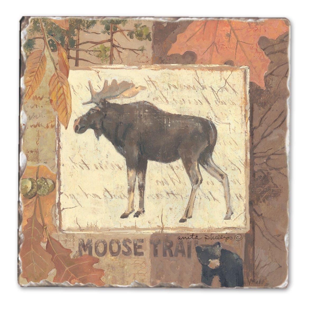 sconti e altro Moose Tracks Single Tumbled Tile Coaster Coaster Coaster  a buon mercato