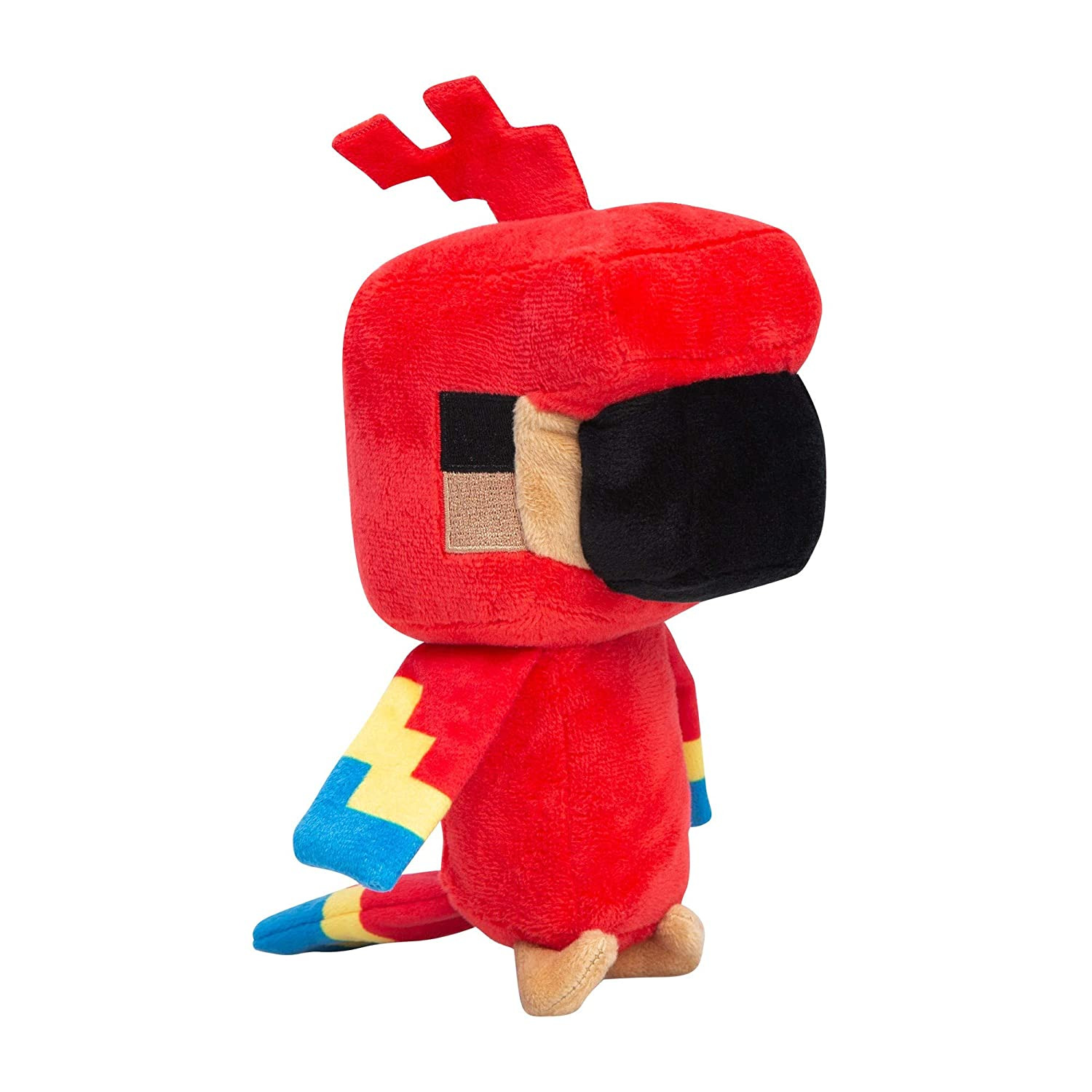 JINX Minecraft Happy Explorer Parrot Plush Stuffed Toy (Red, 7' Tall)