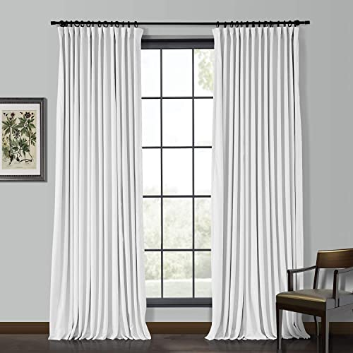 ChadMade Extra Wide 100″ Wx96 L Velvet Curtain Panel