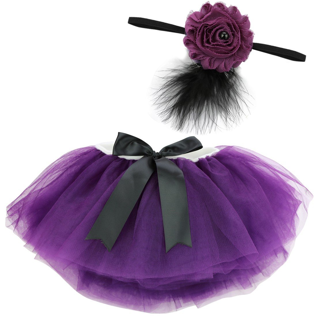 YiZYiF Fotos Fotografie Prop Baby Mä dchen Kostü m Sü ß er Prinzessin Kleid Tü llkleid mit Kopfband Festzug Kleidung (2tlg. Blau)