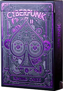 Cyberpunk Purple Playing Cards, Deck of Cards, Premium Card Deck, Cool Poker Cards, Unique Bright Colors for Kids & Adults, Card Decks Games, Standard Size