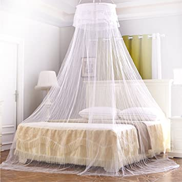 Amazon.com: Mosquito Net, Ubegood Bed Canopy Round Lace Dome Fits ...
