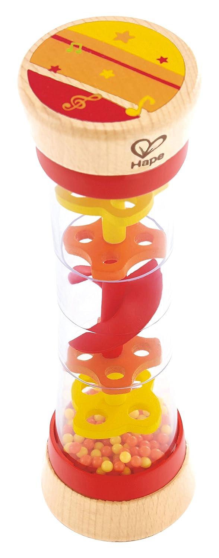 Hape Beaded Raindrops Rainmaker Toddler Musical Toy in Red E0327
