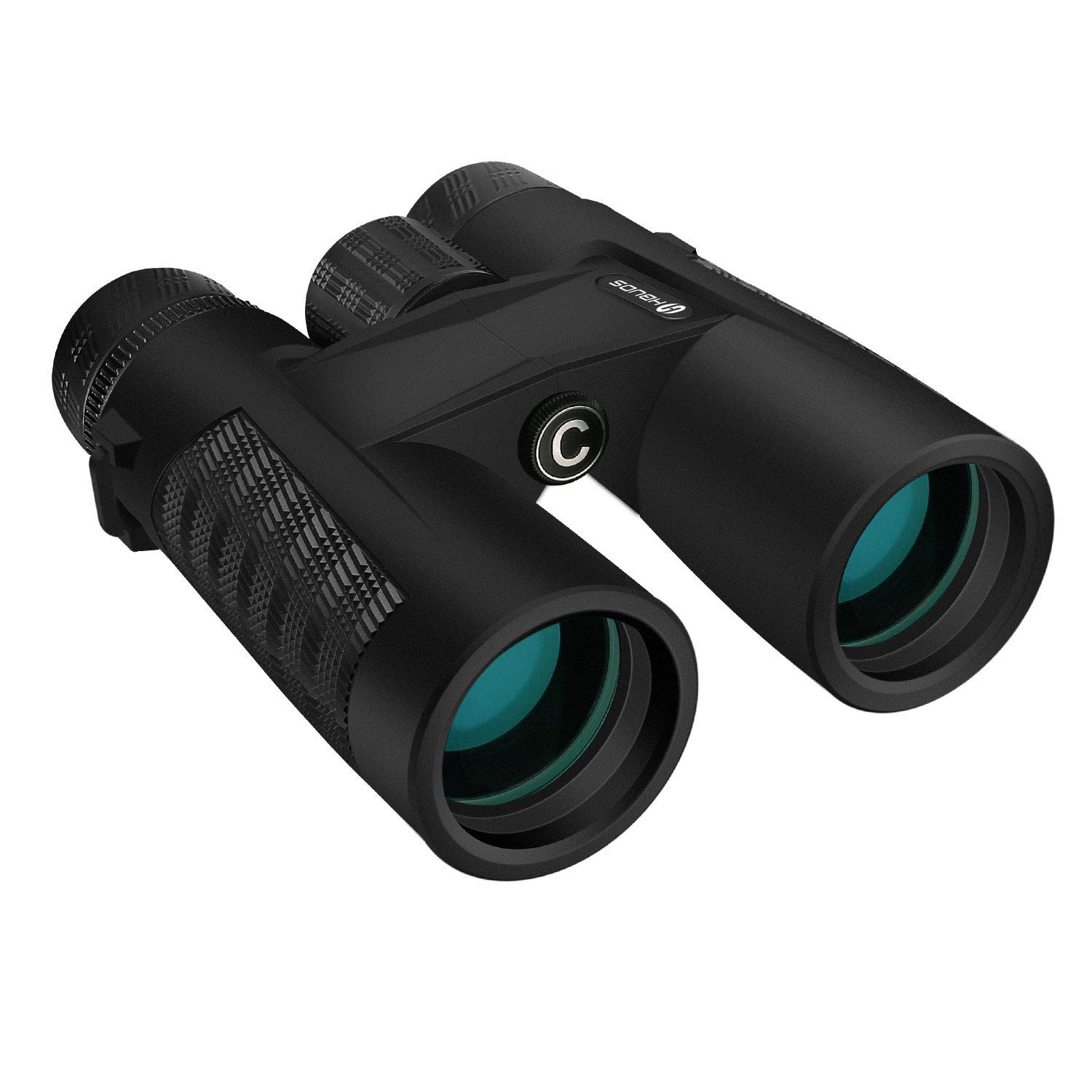 10X42 Binoculars for Adults,HD Optics BAK4 Roof Prism FMC Fully Coated Lens with Neck Strap/Carrying Binocular Large Eyepiece Watching, Hiking, Outdoor Hunting, Travelling, Sports, Also Fit for Kids