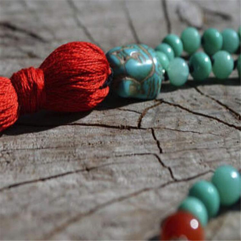 8MM Knot Necklace Pray Tassel Fancy Handmade Men Lucky Hot Multicolor Meditation Natural Cuff