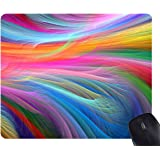 Fractal Rainbow Ocean Mouse Pad Rectangle Non-Slip Rubber Mousepad Mat