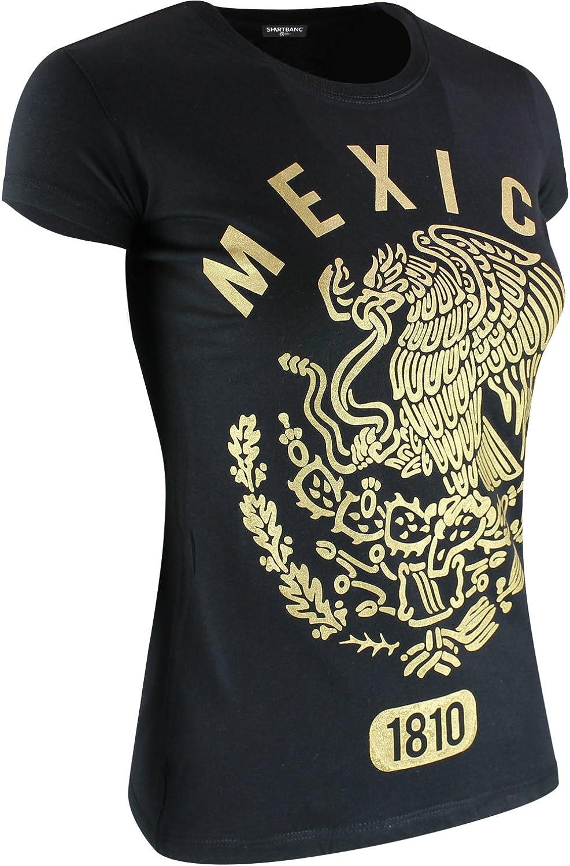 Mexico Established 1810 - Camisa de oro con estampado de águila mexicana - Negro - XX-Large: Amazon.es: Ropa y accesorios