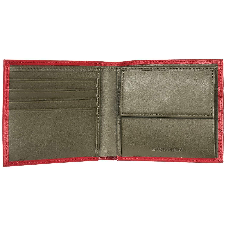 Emporio Armani YEM122YMD6T83195 - Cartera para hombre de Cuero Hombre Rojo rojo talla de un talla: Amazon.es: Zapatos y complementos