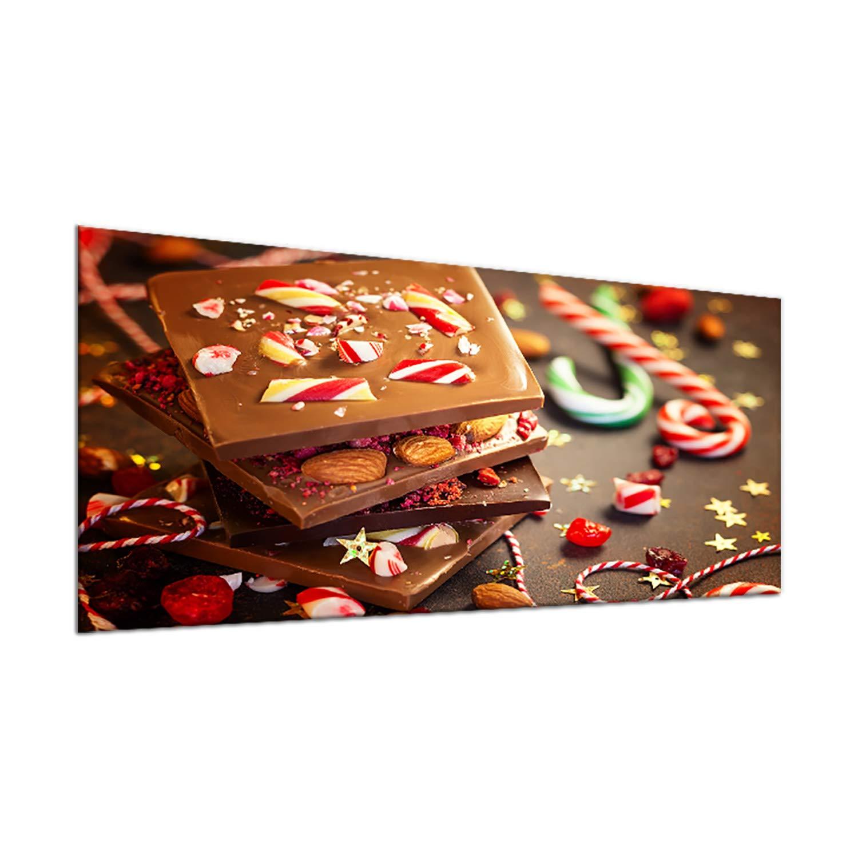 decorwelt   Ceranfeldabdeckung 90x52 cm 1 Teilig Süßigkeiten Braun Herdabdeckplatten Spritzschutz Glas Deko Elektroherd Induktion Herdschutz Glasplatte Schneidebrett Sicherheitsglas