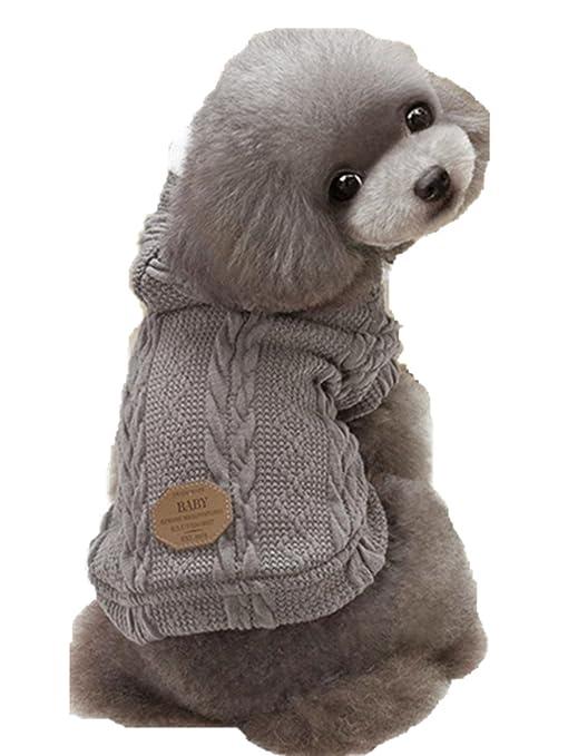 INTERNET Ropa para Perros, Suéter para Mascotas Invierno Perro Invierno Ropa Chaqueta Capa (M