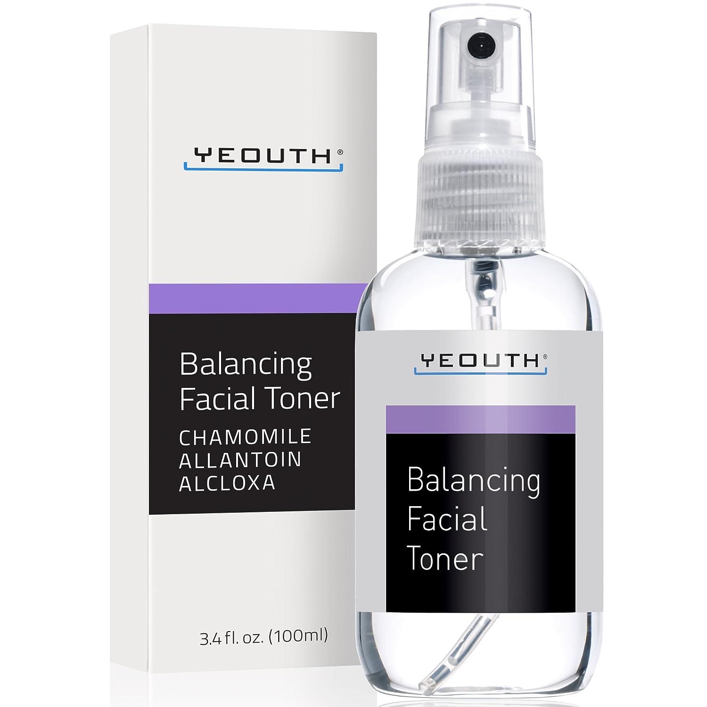 Facial Toner for Rebalancing Skin, Prep, Hydrate, Tone, Refresh, Anti Ageing Regimen, Restore Skin Tone, Pore Minimizer Face Toner - YEOUTH - Large Size 3.4 fl oz - 100% Money Back Guaranteed