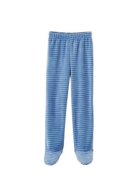 VERTBAUDET Pijama de Terciopelo niño con pies Azul Oscuro Liso con Motivos 18M-2 Anos, 86CM: Amazon.es: Ropa y accesorios