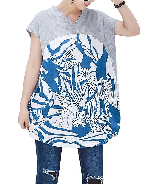 Shirt Maglietta Forti Manica Donna Ailient T Taglie Estive Casuale zSUMGVqpL