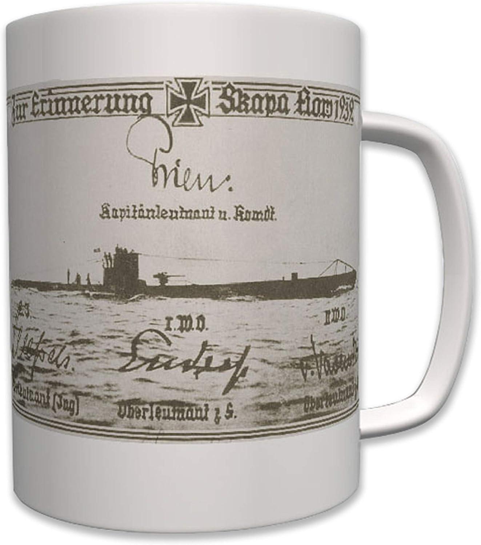 Recuerdo skapa Flow U47 U Barco 47 Toro Unterseeboot Acorazado Günther prien Taza de café # 7500: Amazon.es: Hogar