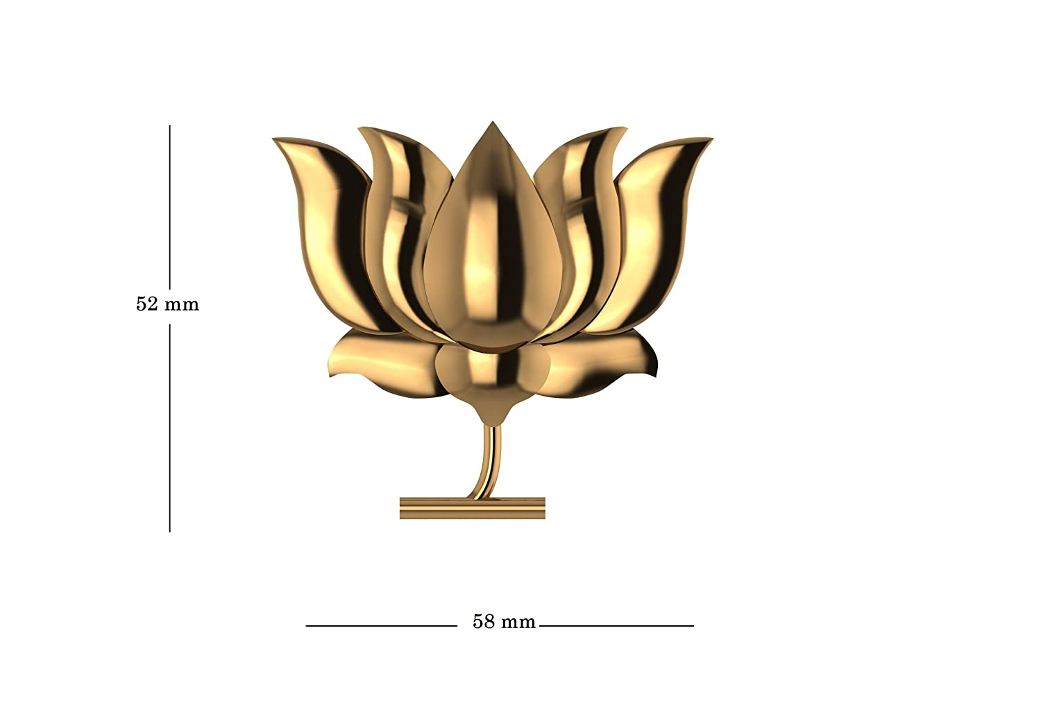 Buy Jewelsera 925 Pure Silver Gold Plated Lotus Shape Brooch Bjp