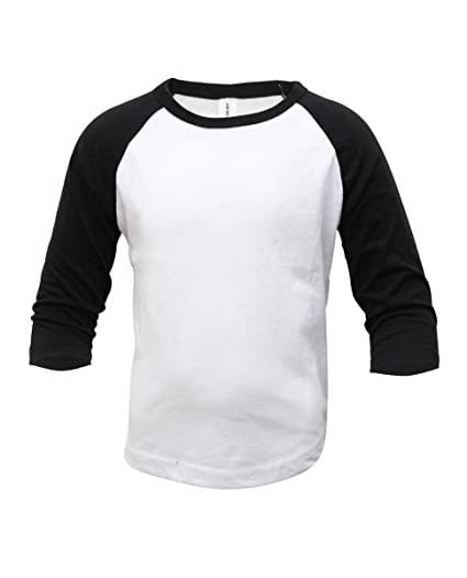 55e4db57d8c Kids Baseball Raglan T-Shirt 3 4 Sleeve Infant Toddler Youth Athletic Jersey  Sports