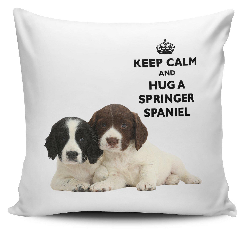 Keep Calm And Hug A Cocker Spaniel Cushion Cover 40cm x 40cm Brand New