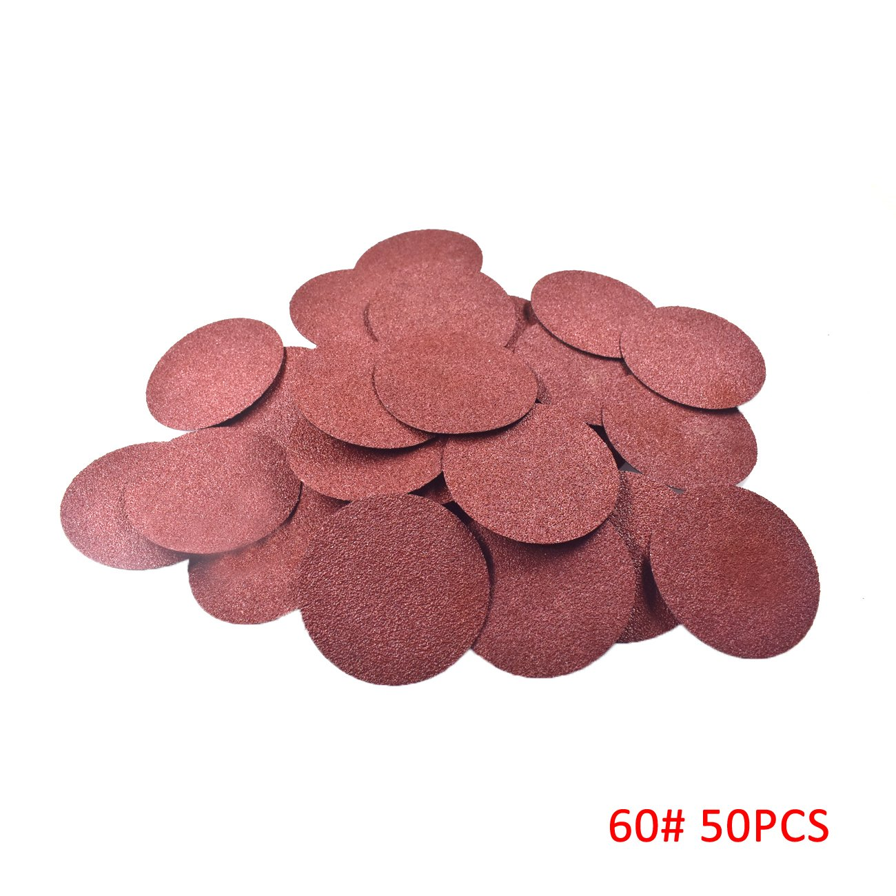 Supermotorparts 50 Pcs 3 Inch Roloc Discs Coarse 60 Grit R Type Sanding Abrasive Roll Lock