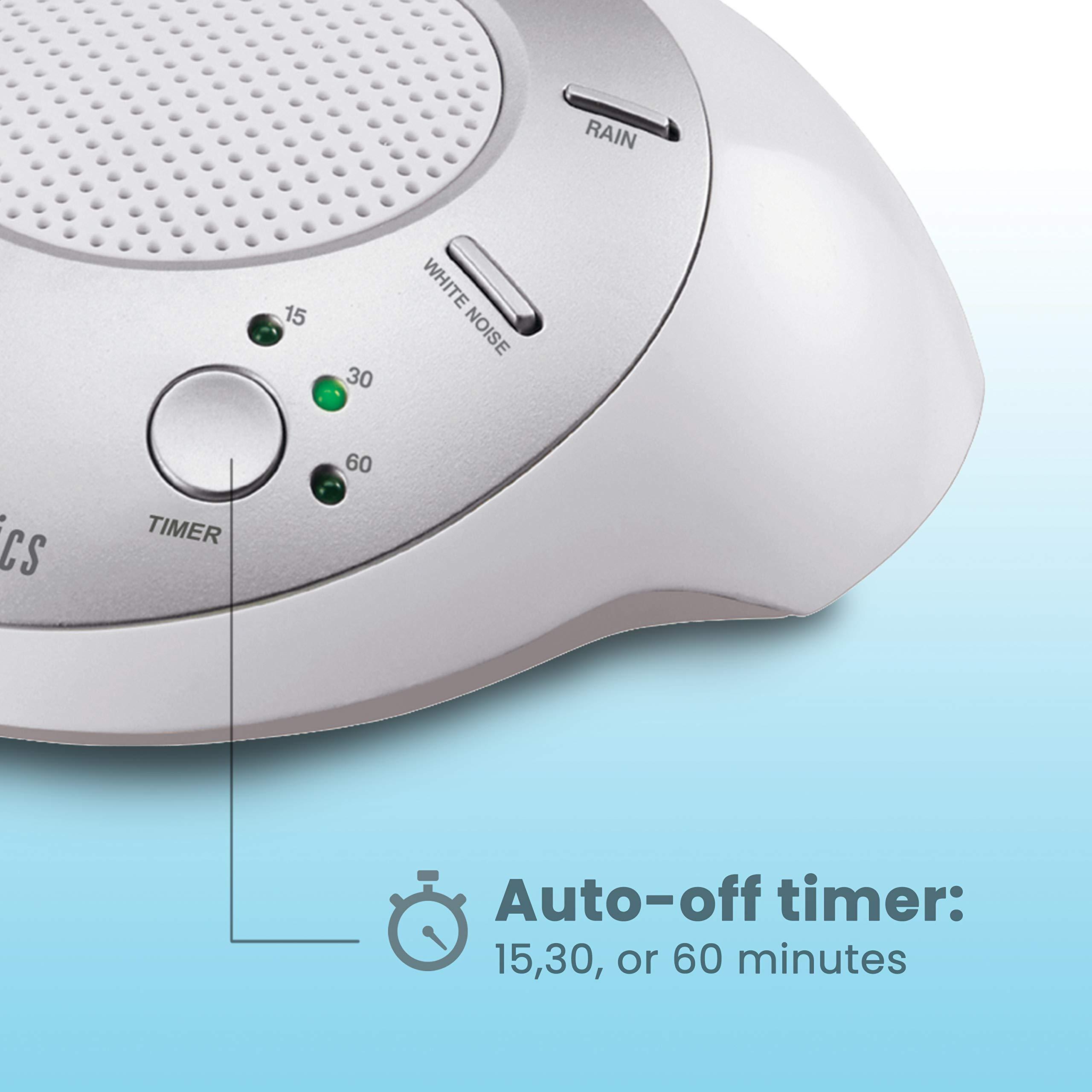 White Noise Sound Machine Portable Sleep Therapy For