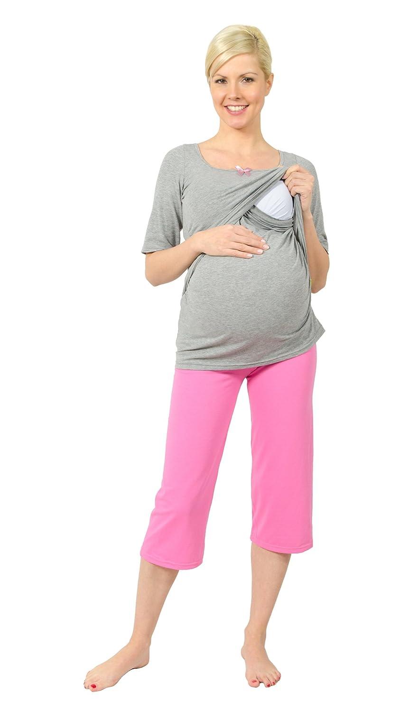 Be! Mama Stillpyjama, Schwangerschaftsschlafanzug, Modell: PERLA