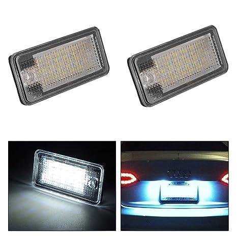 XCSOURCE 2 X Luz LED De Placa Licencia, Luz Color Blanco Para Audi A3 A4
