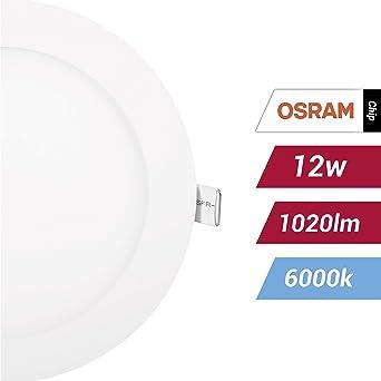 POPP- (Pack x 2 )downlight led Placa LED redondo.12W luz fria ...