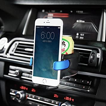 BESTEK Smart Drink /& Phone Clip-on Holder COMBO Car Air Vent Cup Mount Soft Drink Water Coffee Bottle Insert with Adjust Size For Vehicle Automobile