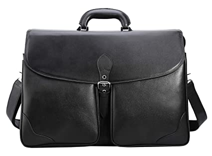 d67a075ac828 Image Unavailable. Image not available for. Color  Polare 17 quot  Men s  Soft Real Napa Leather Messenger Shoulder Bag Business Laptop Briefcase