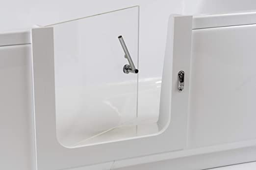 Amber Custom acrílico Walk-in tina movilidad ayuda baño puerta ...