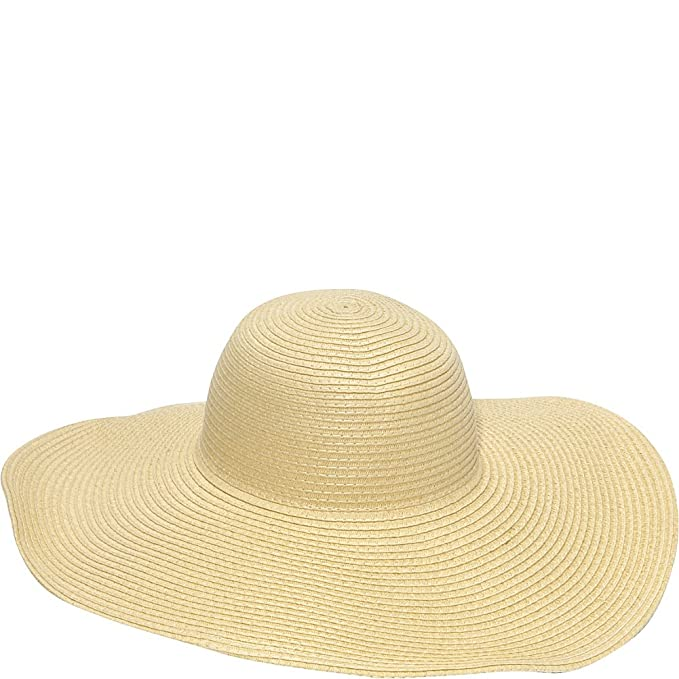 5d0f8977 Magid Straw Floppy Sun Hat (Natural): Amazon.ca: Clothing & Accessories
